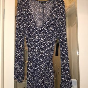 Lulu's Dresses - Lulus Long Sleeve Blue Dress